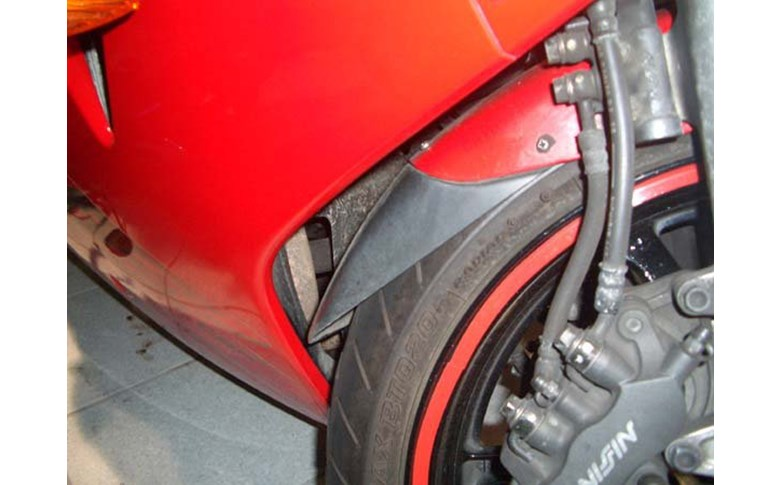 Voorspatbord verlenger zwart Honda VFR80