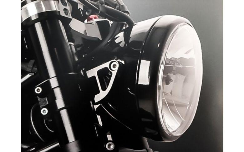 Koplampbeugels zwart lang 55mm - ABM