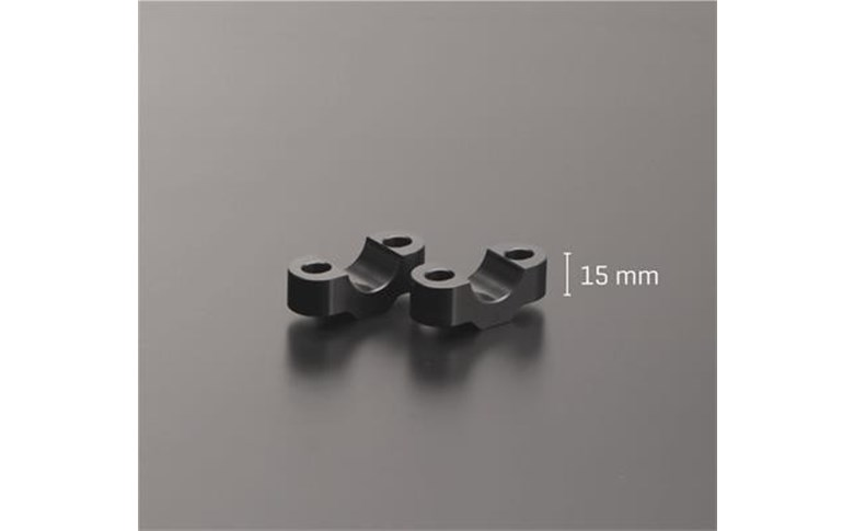 Stuurverhogers 15mm zilver - ABM