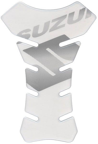 Tankpad transparant + zwart Suzuki logo