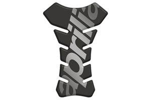 Tankpad zwart met logo Aprilia