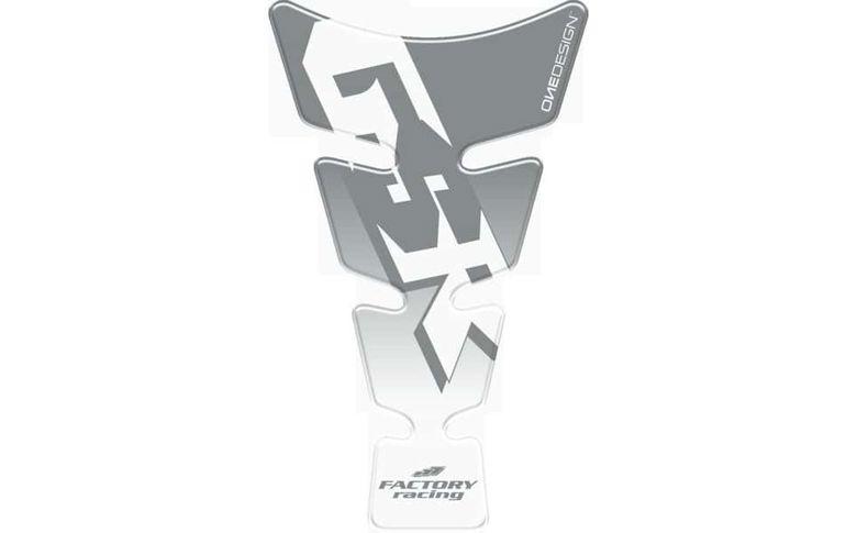 Tankpad transparant met zilver GSR logo