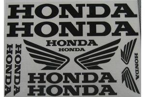 Stickervel Honda zwart 34x24cm