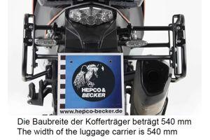 Kofferrek zwart Lock-it asymmetrisch H&B
