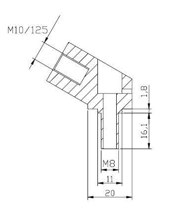 Stuurspiegel adapter Puig