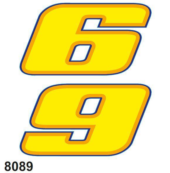 Stickers Rossi 14x16cm cijfer 6 UVK