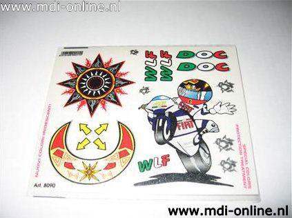 Stickers Rossi 14x16cm graphic UVK