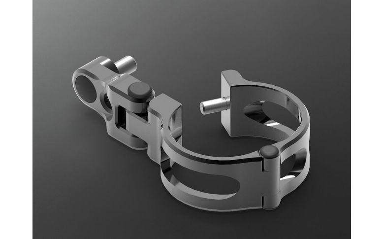 Koplampbeugels zwart kort 37/38mm - ABM