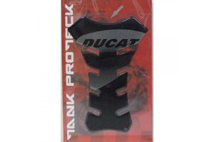 Tankpad zwart met Ducati logo