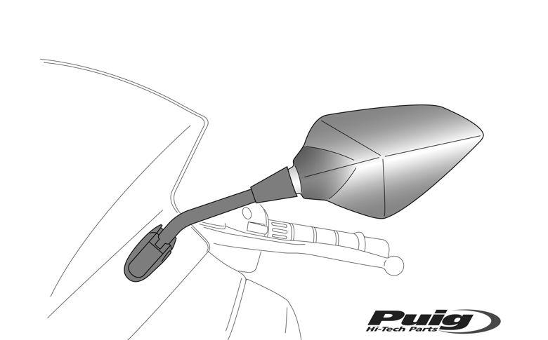 Kuipspiegel Puig model RS2 links