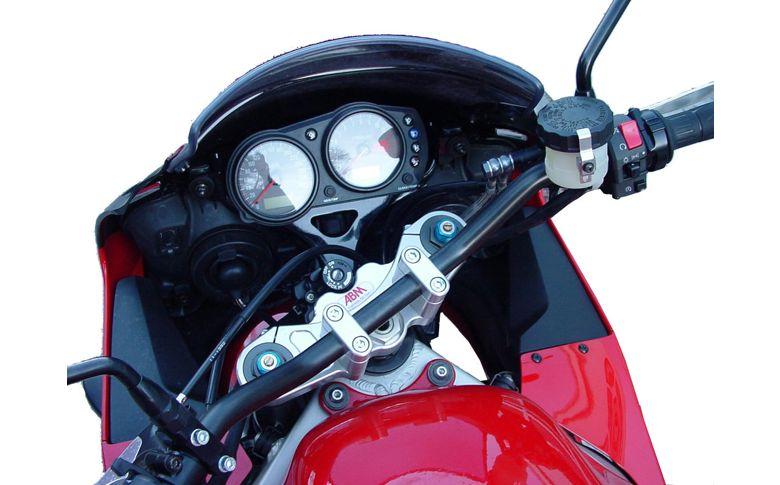 Superbikestuurombouw kroonplaat zilver
