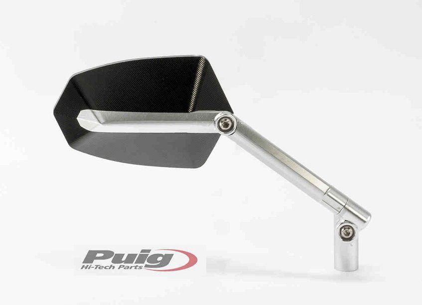 Stuurspiegel GT rechts Puig zilver/zwart