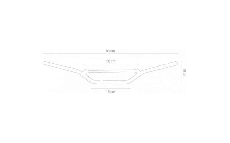 Cross stuur mat zwart aluminium