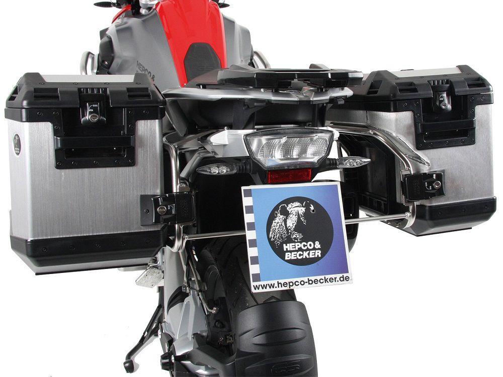Kofferset H&B Cutout rek+koffers zilver
