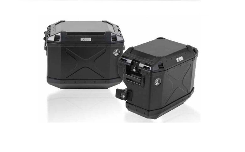 Kofferset H&B Cutout rek+koffers zwart