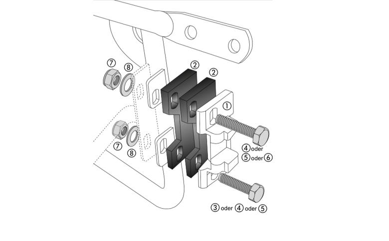 Kofferadapterset Alu Box / Alu Exclusiv