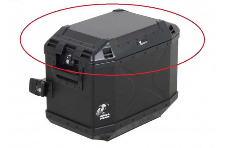 Deksel zwart Xplorer 40ltr zijkoffer